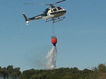 Una imatge de l'incendi a Serra de Daró. Ò.P