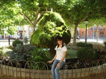 Serra, fotografiada a la font del Firal.  EL PUNT