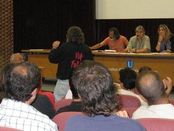 Sessió d'ahir DEL CONSELL PLENARI DE LA COORDINADORA NACIONAL A LA UNIVERSITAT DE BARCELONA AVUI