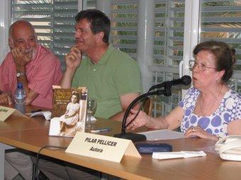 Salomó Marquès, Estanis Puig i Pilar Pellicer, dissabte.