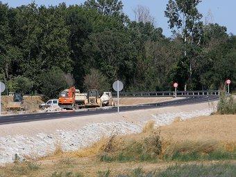 La nova variant de la carretera entre Torroella de Fluvià i Sant Pere Pescador.  MANEL LLADÓ