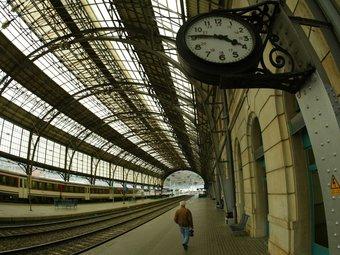 Una imatge de l'estació de Portbou,  per on diumenge deixarà de circular el Talgo Barcelona Montpeller.  LL.SERRAT