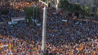 La gran manifestació del 10 de juliol a Barcelona. JOSEP LOSADA