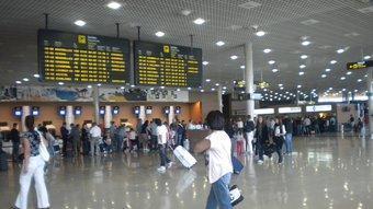 Vista de la terminal de facturació de l'aeroport de Reus