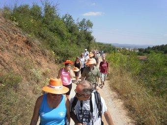 Autoritats i peregrins van recórrer el tram senyalitzat entre l'Espluga i Poblet.  J. Olaria
