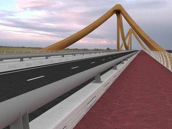 Imatge virtual de com ha de ser el pont sobre el Ter a Girona. EL PUNT