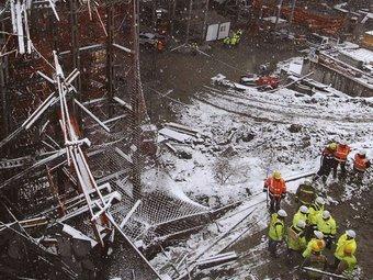 L'accident que hi va haver el novembre, i que va causar la mort de cinc operaris.