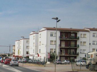 El nucli urbà de la Roqueta, on hi ha una gran concentració de població immigrant. A.V
