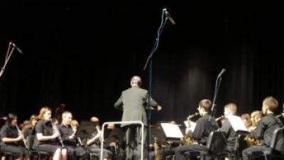 Una banda de música participant del certamen. ARXIU