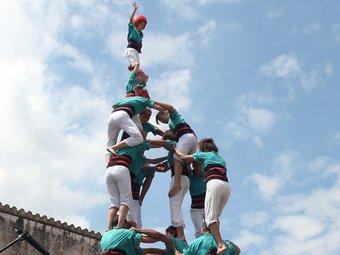 Cinc de vuit amb l'agulla dels Castellers de Vilafranca, ORIOL DURAN