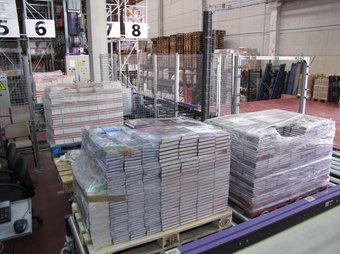 Una imatge dels magatzems de l'empresa distribuïdora Arclogi a Gualba, creada el 2006 per L'Arc de Berà ARXIU