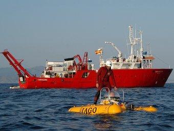 El submarí alemany Jago, amb el que s'ha filmat bona part del fons marí per fer els estudis científics. JAGO-GEOMAR