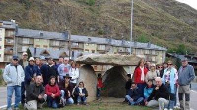 La visita al dolmen.