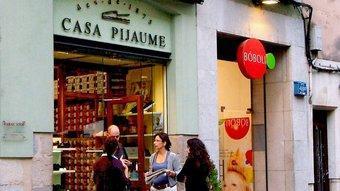 Can Pijaume de la Rambla era un dels establiments més populars de Girona.  JORDI SOLER