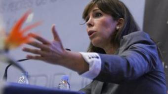 La presidenta i candidata catalana del PP, Alícia Sánchez-Camacho, a la Tribuna La Salle ROBERT RAMOS