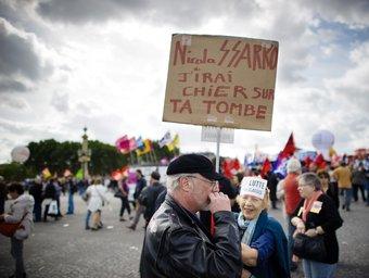Una moment de la darrera manifestació a França contra la reforma de pensions.  ARXIU