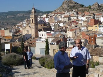 Vista panoràmica de Toixa des de l'ermita fortalesa de Sant Cristòfol. ESCORCOLL