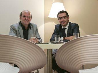 D'esquerra a dreta, Marià Moreno i Francisco Gimenez, creadors de Building Comunities.  ROBERT RAMOS