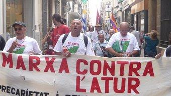 La marxa contra l'atur , va ser a Badalona el 8 d'octubre passat. JOSEP NAVARRO