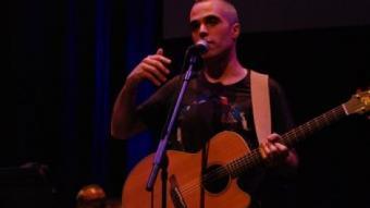 Jaume Lara ,en el concert d'Sciurus, el 19 de juny a L'Auditori. XAVI PIÑERO