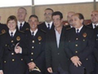 Totala plantilla de la Policia Local de Santa cristina d'Aro, amb l'alcalde.