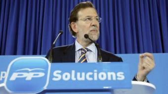 Imatge recent de Mariano Rajoy en un míting a Lleida EFE