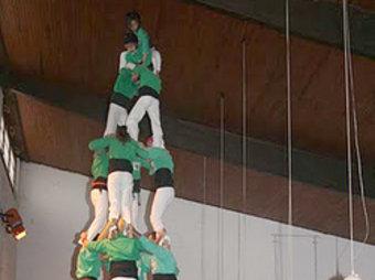 El 4de7 dels Castellers del Riberal. CDR