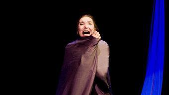 Núria Espert és Lucrecia, l'heroïna del poema dramàtic de William Shakespeare que ha dut a escena.  J. NAVAL