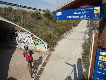 Imatge del pont del Diable, un dels espais afectats per un dels projectes de recuperació del riu. ORIOL DURAN