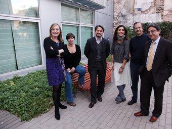 D'esquerra a dreta, Maria Àngels Cabasés (ERC), Laia Ortiz (ICV), Oriol Pujol (CiU), Rocio Martínez- Sampere (PSC), Antonio Espinosa(Ciiutadans) i Enric Millo (PP).  ANDREU PUIG