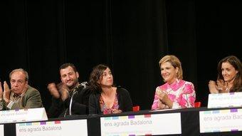 "Personatges famosos presentant el manifest ""Ens agrada Badalona"". ROBERT RAMOS"