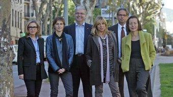 Carmen de Rivera (C,s), Dolors Camats (ICV-EUiA), Jordi Cornet (PP), Joana Ortega (CiU), Ernest Benach (ERC) i Montserrat Tura (PSC) JUANMA RAMOS