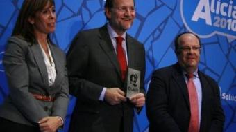 Mariano Rajoy, acompanyat d'Alícia Sánchez-Camacho i Rafael Luna en l'acte celebrat a Cunit REDACCIÓ