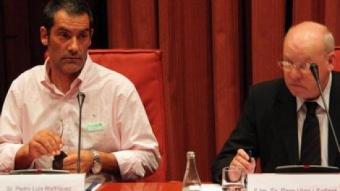 Pedro Luís Rodríguez, administrador d'una de les empreses sota sospita, New Letter, el dia que va anar al Parlament ACN