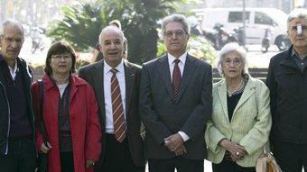 Benigno Martínez (ICV), Teresa Forn (ERC), Fernando Carretero (PP), Francesc Bragulat (CiU), Marina Bru (PSC) i Fèlix de la Fuente (C,s) Robert Ramos