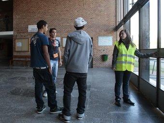 A l'institut Pere Martell de Tarragona 40 alumnes del cicle superior de riscos laborals van coordinar el confinament J. C. LEÓN