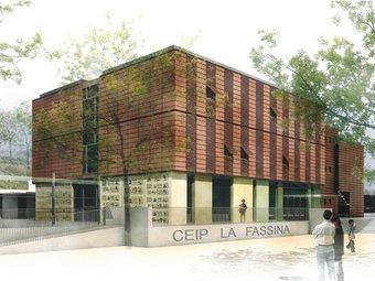 Imatge virtual de la nova escola la Fassina de Sant Joan de Mediona. GENERALITAT