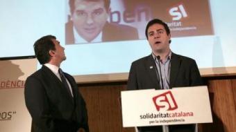 Laporta i Bertran ahir en la presentació de la campanya JOSEP LOSADA