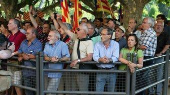 Entitats sobiranistes demanant el dret a l'autodeterminació a Barcelona, l'any passat.  QUIM PUIG
