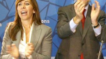 La presidenta del PP a Catalunya, Alícia Sánchez Camacho, i el líder del partit, Mariano Rajoy EFE