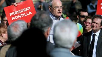 El candidat del PSC a la presidència de la Generalitat, José Montilla, en un míting a Barcelona EFE - MARTA PÉREZ