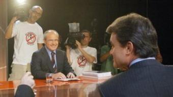Un moment del debat a cinc que es va fer durant la campanya electoral del 2006, a TV3 ANDREU PUIG