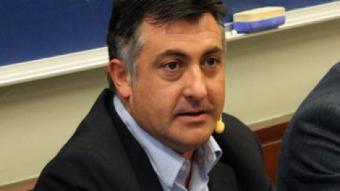 Joan Puigcercós, president d'ERC, durant la conferència que ha fet avui a la UPF PERE FRANCESCH / ACN
