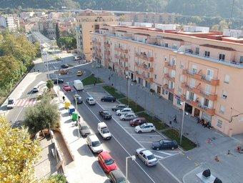 Imatge de transformació urbanística de l'antiga N-II al seu pas per Martorell EL PUNT