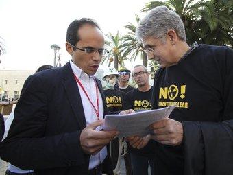 Membres de la CANC, en una protesta durant la campanya del 28-N. D. BALAGUER