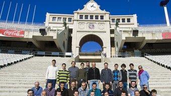 La gran majoria de l'equip de redacció d'El 9 Esportiu de Catalunya,   Robert Ramos