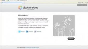 La web Elecciones.es, que permet a l'usuari conèixer quines són les seves tres principals afinitats polítiques de cara al 28-N ARXIU