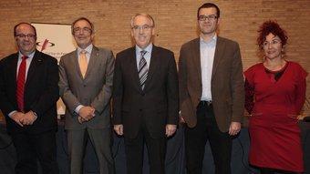 Els cinc caps de llista per Tarragona, Luna, Sabaté, Poblet, De los Rios i Grau JOSÉ CARLOS LEÓN