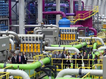 Planta dessalinitzadora del Prat de Llobregat.  ARXIU / ANDREU PUIG