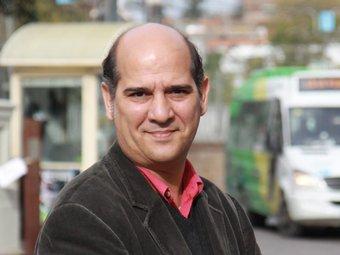 El candidat Xavier Boix, aquesta setmana, a la plaça Lluís Millet de Sant Cugat E.A